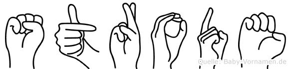 Strode im Fingeralphabet der Deutschen Gebärdensprache