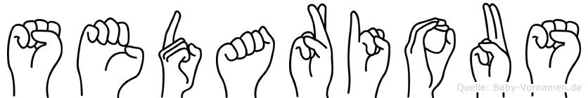 Sedarious in Fingersprache für Gehörlose