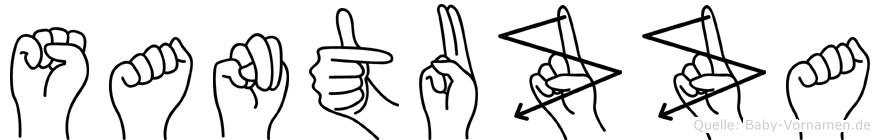 Santuzza im Fingeralphabet der Deutschen Gebärdensprache