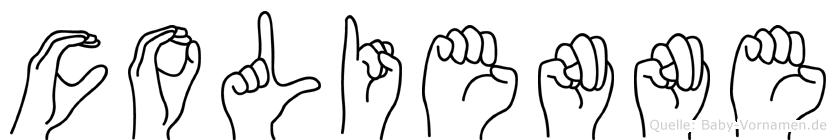 Colienne im Fingeralphabet der Deutschen Gebärdensprache