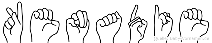 Kenadie in Fingersprache für Gehörlose