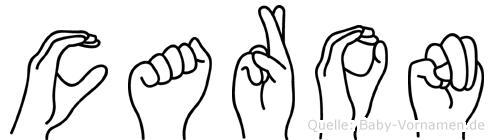 Caron in Fingersprache für Gehörlose