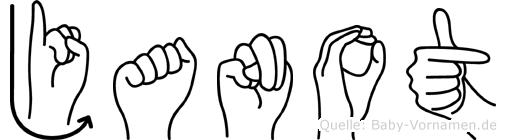 Janot in Fingersprache für Gehörlose
