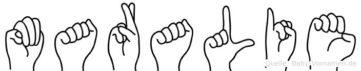 Maralie in Fingersprache für Gehörlose