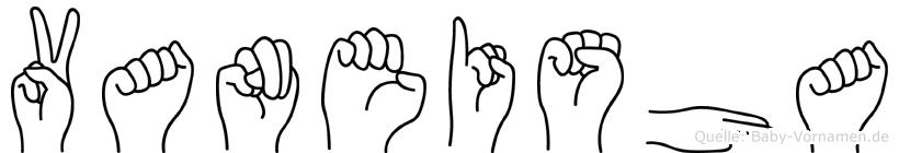 Vaneisha im Fingeralphabet der Deutschen Gebärdensprache