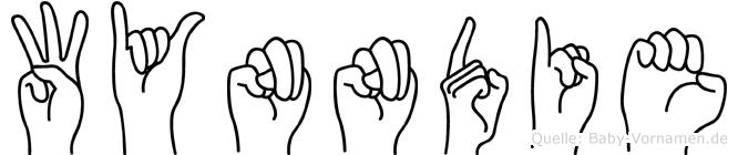 Wynndie in Fingersprache für Gehörlose