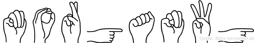 Morganwg im Fingeralphabet der Deutschen Gebärdensprache