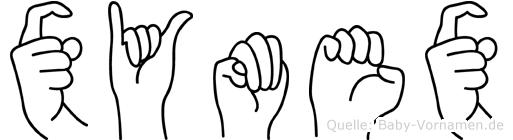 Xymex im Fingeralphabet der Deutschen Gebärdensprache