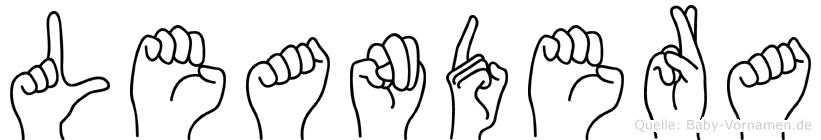 Leandera im Fingeralphabet der Deutschen Gebärdensprache