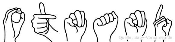Otnand im Fingeralphabet der Deutschen Gebärdensprache