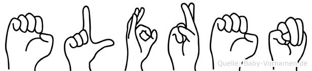 Elfren im Fingeralphabet der Deutschen Gebärdensprache
