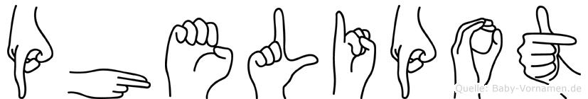Phelipot in Fingersprache für Gehörlose