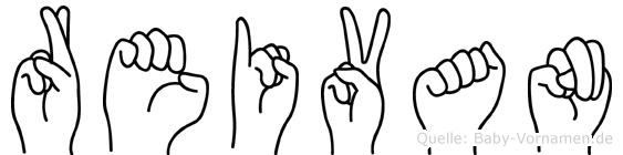 Reivan in Fingersprache für Gehörlose
