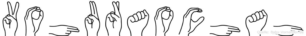 Vohuraochah im Fingeralphabet der Deutschen Gebärdensprache