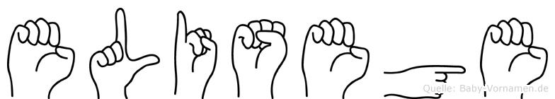 Elisege im Fingeralphabet der Deutschen Gebärdensprache