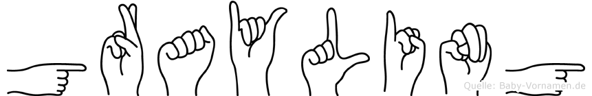 Grayling in Fingersprache für Gehörlose