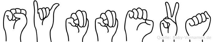 Synneva im Fingeralphabet der Deutschen Gebärdensprache