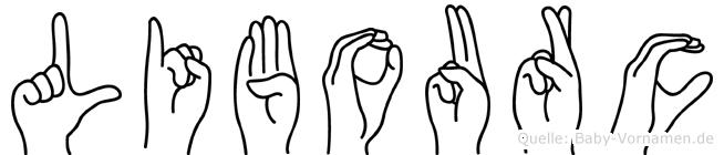 Libourc im Fingeralphabet der Deutschen Gebärdensprache