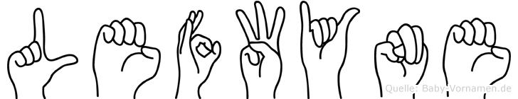 Lefwyne in Fingersprache für Gehörlose
