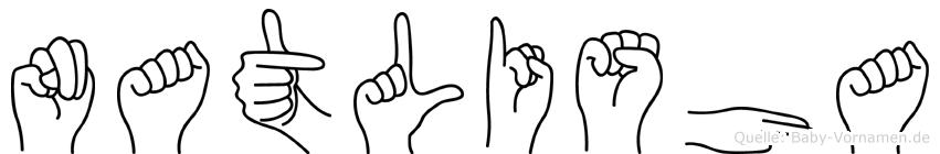 Natlisha in Fingersprache für Gehörlose