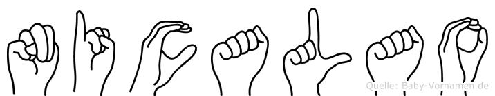 Nicalao in Fingersprache für Gehörlose