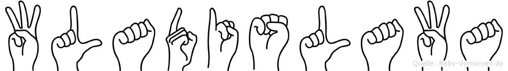 Wladislawa im Fingeralphabet der Deutschen Gebärdensprache