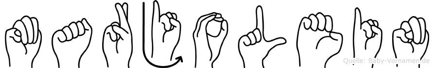 Marjolein im Fingeralphabet der Deutschen Gebärdensprache