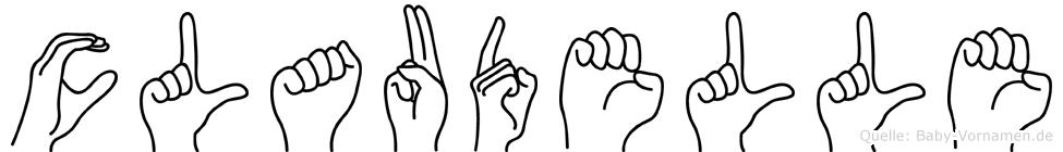 Claudelle in Fingersprache für Gehörlose