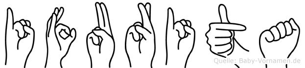 Ifurita im Fingeralphabet der Deutschen Gebärdensprache