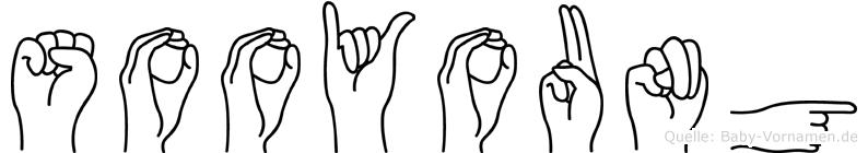 Sooyoung im Fingeralphabet der Deutschen Gebärdensprache