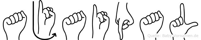 Ajaipal im Fingeralphabet der Deutschen Gebärdensprache