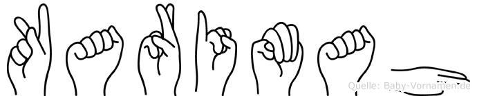 Karimah im Fingeralphabet der Deutschen Gebärdensprache