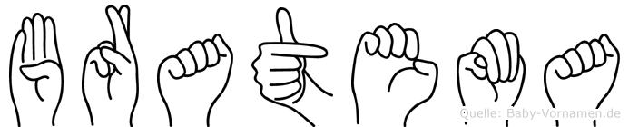 Bratema in Fingersprache für Gehörlose