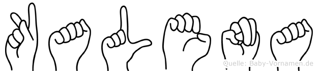 Kalena in Fingersprache für Gehörlose