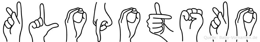 Klopotsko in Fingersprache für Gehörlose