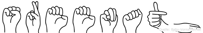 Sreenath in Fingersprache für Gehörlose