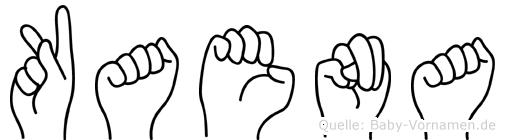Kaena im Fingeralphabet der Deutschen Gebärdensprache