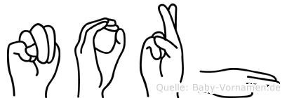 Norh in Fingersprache für Gehörlose