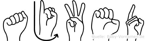 Ajwed im Fingeralphabet der Deutschen Gebärdensprache
