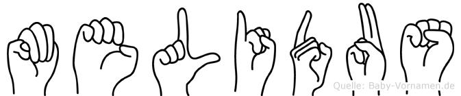 Melidus in Fingersprache für Gehörlose