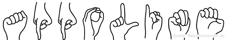 Appoline in Fingersprache für Gehörlose