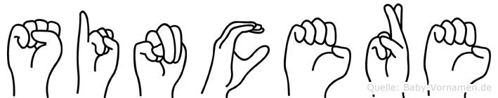Sincere in Fingersprache für Gehörlose