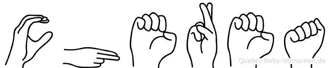 Cherea in Fingersprache für Gehörlose