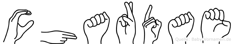 Chardae in Fingersprache für Gehörlose