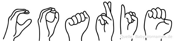 Coarie in Fingersprache für Gehörlose
