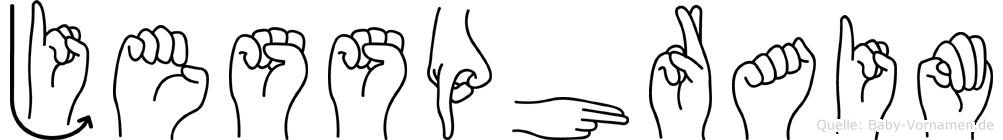 Jessphraim in Fingersprache f�r Geh�rlose