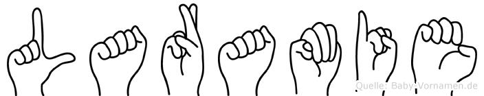 Laramie im Fingeralphabet der Deutschen Gebärdensprache
