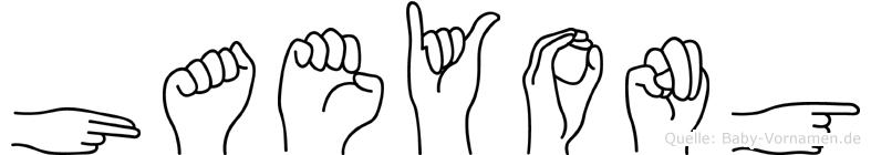 Haeyong im Fingeralphabet der Deutschen Gebärdensprache