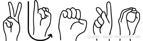 Vjeko in Fingersprache für Gehörlose