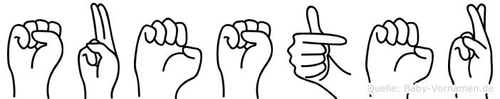 Suester in Fingersprache für Gehörlose